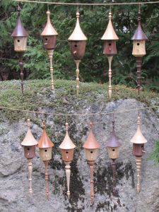 Bird House Ornament Collection